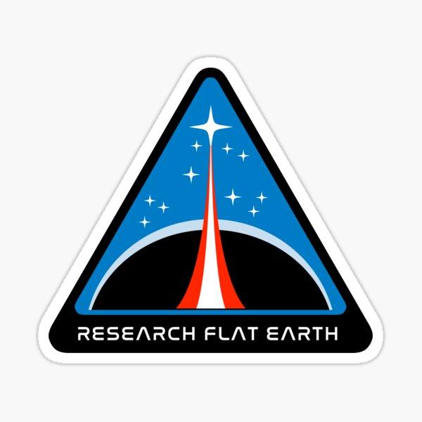 Flat Earth Designs - RESEARCH FLAT EARTH Sticker