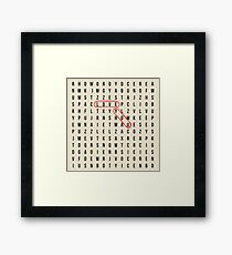love you crossword puzzle Framed Print