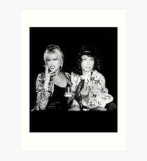 Patsy and Eddie Art Print