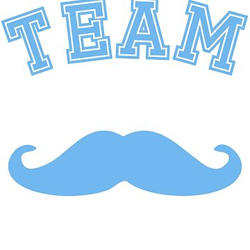 Team Moustache Blue Boy Mom Baby Shower Gender Reveal Party Cute Funny Gift by arcadetoystore