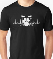 Heart Beat Drummer Unisex T-Shirt