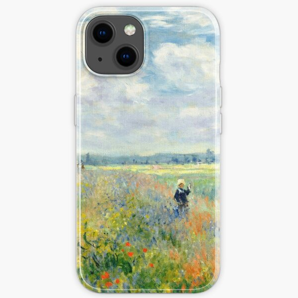 fields of poppies claude monet iPhone Soft Case