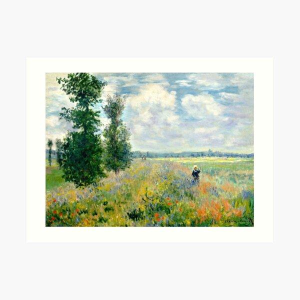 fields of poppies claude monet Art Print
