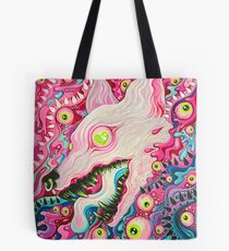 Glitterwolf Acrylic Painting Tote Bag