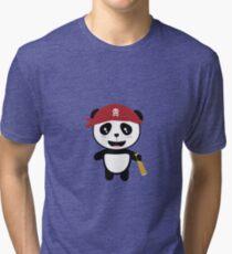 Panda Pirate with spyglass Ri5wy Tri-blend T-Shirt