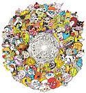 Toon Vortex circular design by Matthew Sergison-Main