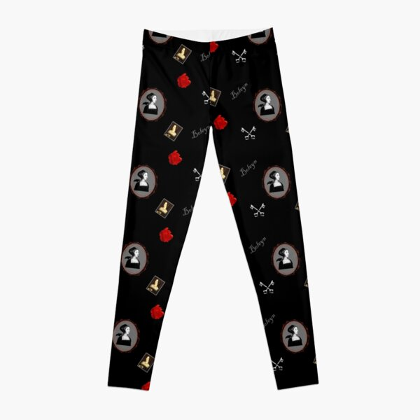Anne Boleyn print black and red Leggings