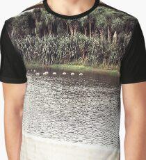 Ducks Through The Fence Graphic T-Shirt