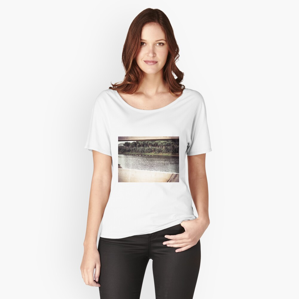 Ducks Through The Fence Women's Relaxed Fit T-Shirt Front