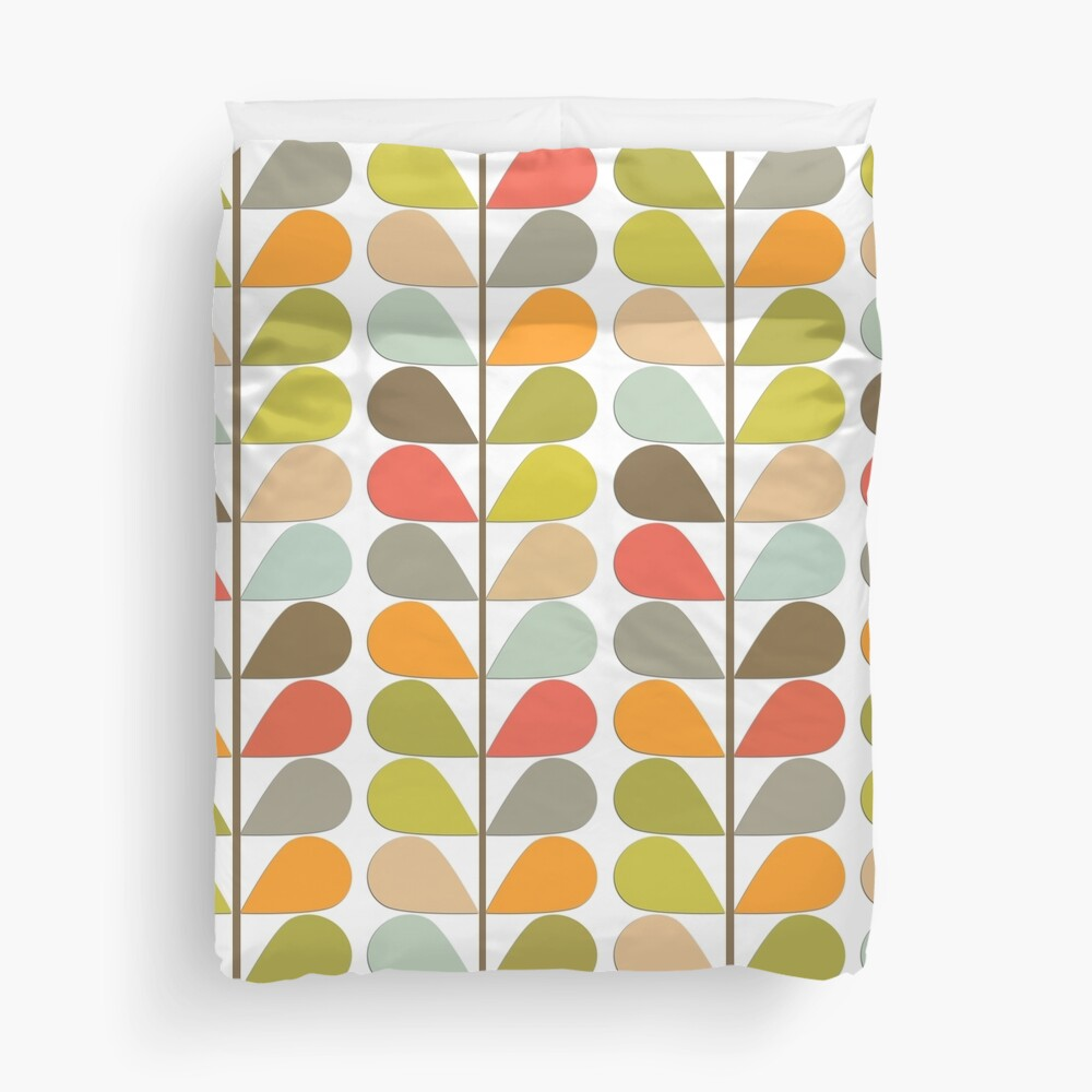 Retro 60s Midcentury Modern Pattern Duvet Cover