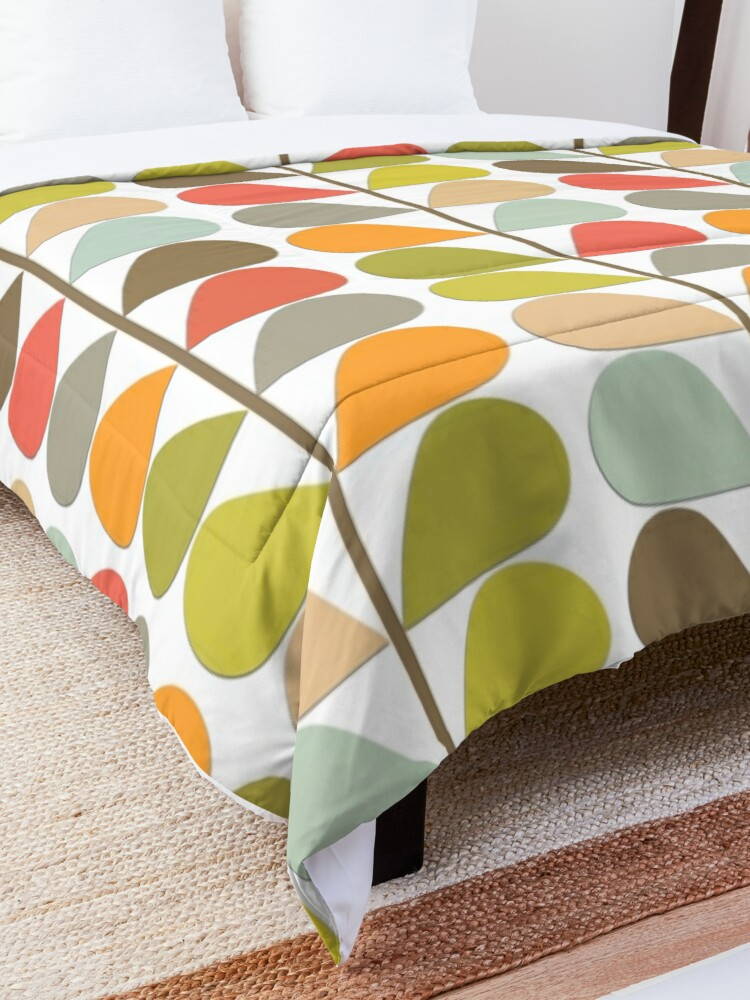 Alternate view of Retro 60s Midcentury Modern Pattern Comforter