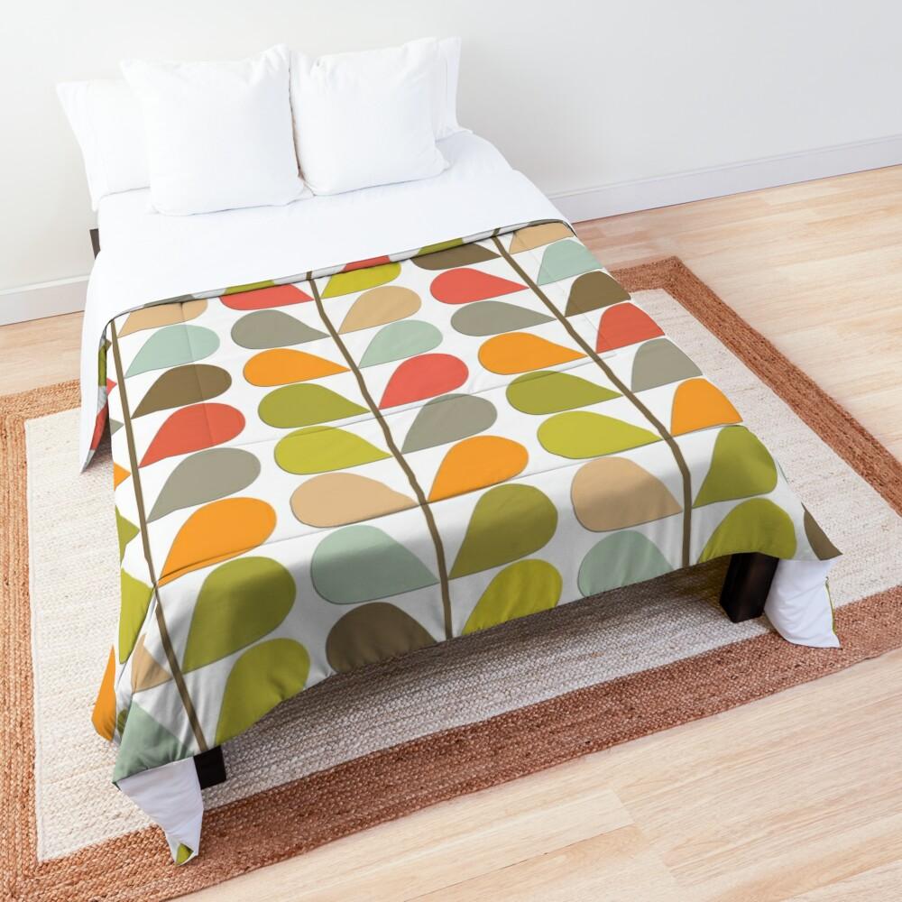 Retro 60s Midcentury Modern Pattern Comforter