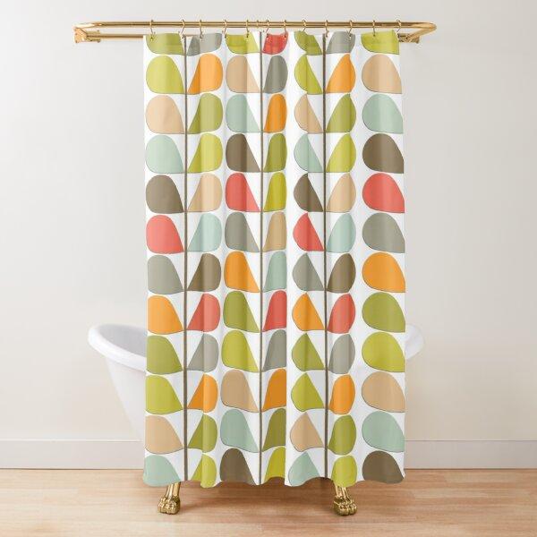 Retro 60s Midcentury Modern Pattern Shower Curtain