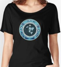 Flat Earth Designs - Antarctica Journey to the Edge of the Dome 2017 Women's Relaxed Fit T-Shirt