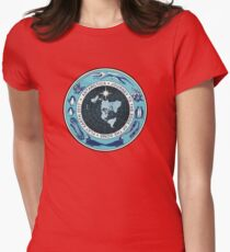 Flat Earth Designs - Antarctica Journey to the Edge of the Dome 2017 Womens Fitted T-Shirt