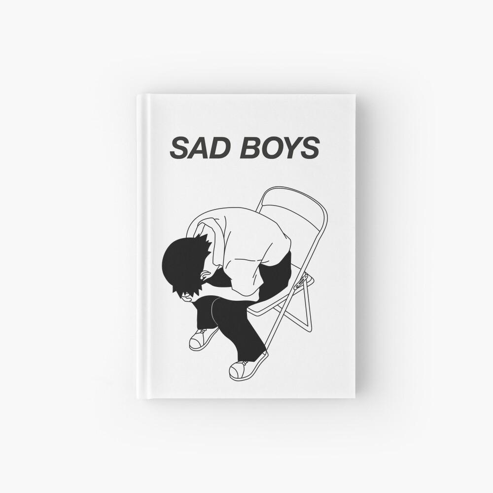 Sad boy Hardcover Journal