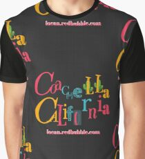coachella california | color | black Graphic T-Shirt