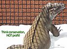 """THINK LIZARDS: """"Think conservation – NOT profit!"""" by Patricia Anne McCarty-Tamayo"""