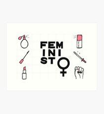 femininity is power Art Print
