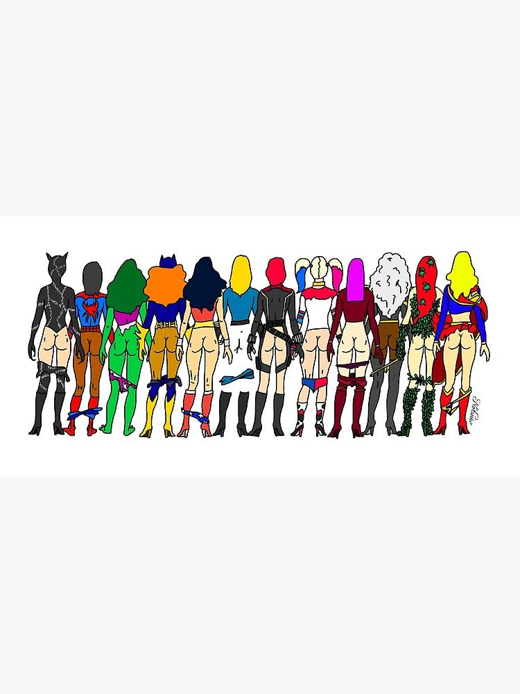 Superheroine Butts - Group by notsniwart