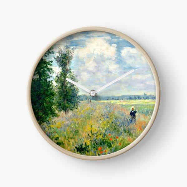 fields of poppies claude monet Clock