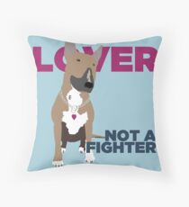 Roxy the Bull Terrier Throw Pillow