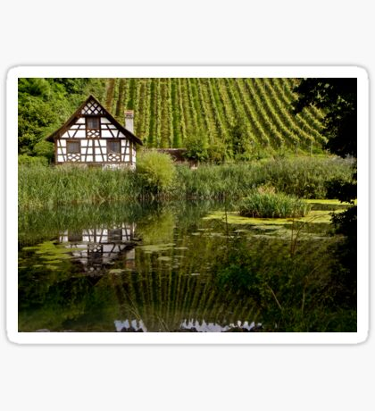 house by the pond Sticker