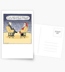 Santa Gets Some Advice Postcards