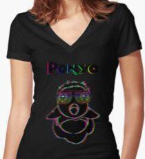Electric Ponyo (Fish Form) (v2) Women's Fitted V-Neck T-Shirt