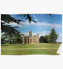 Highclere Castle a.k.a. Downton Abbey Poster
