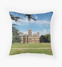 Highclere Castle a.k.a. Downton Abbey Throw Pillow