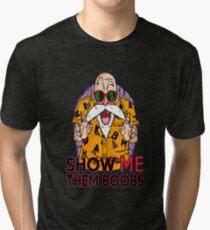Show Me Them Boobs - Master Roshi Tri-blend T-Shirt