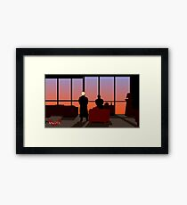 Angel and Spike Framed Print