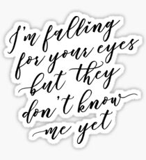 I'm Falling for Your Eyes Sticker