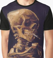 Vincent Van Gogh's 'Skull with a Burning Cigarette'  Graphic T-Shirt