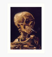 Vincent Van Gogh's 'Skull with a Burning Cigarette'  Art Print