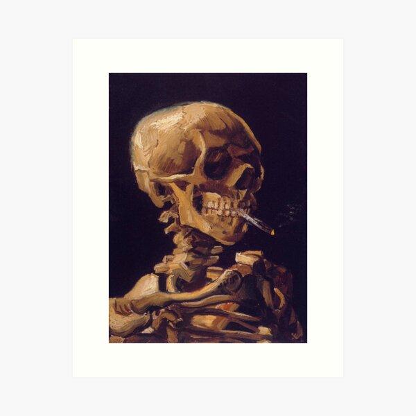Vincent Van Gogh's 'Skull with a Burning Cigarette'  Art Print