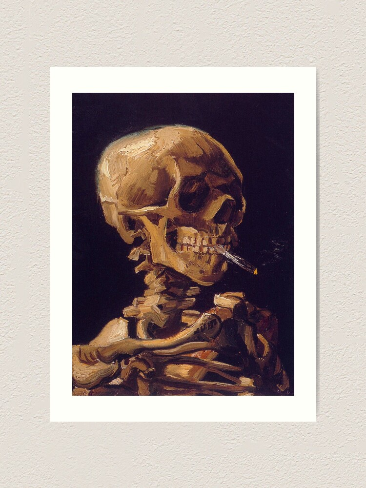 Alternate view of Vincent Van Gogh's 'Skull with a Burning Cigarette'  Art Print