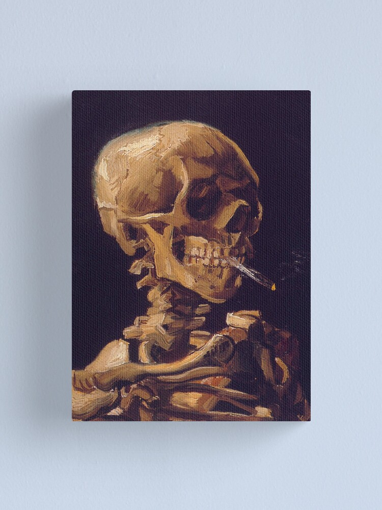 Alternate view of Vincent Van Gogh's 'Skull with a Burning Cigarette'  Canvas Print