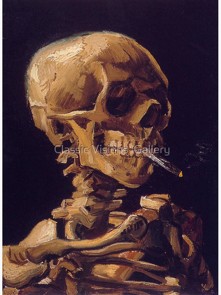 Vincent Van Gogh's 'Skull with a Burning Cigarette'  by RozAbellera
