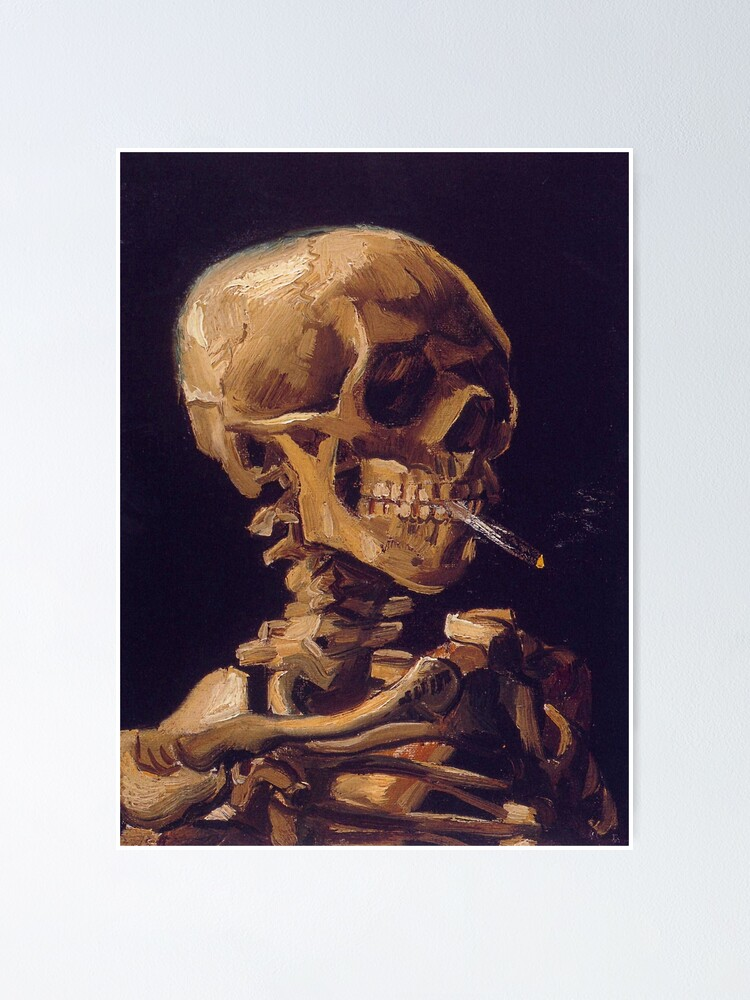 Alternate view of Vincent Van Gogh's 'Skull with a Burning Cigarette'  Poster