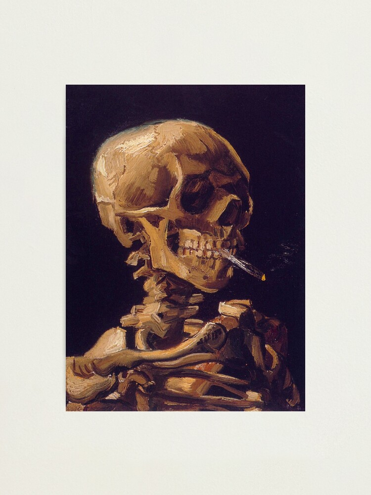 Alternate view of Vincent Van Gogh's 'Skull with a Burning Cigarette'  Photographic Print