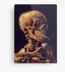 Vincent Van Gogh's 'Skull with a Burning Cigarette'  Metal Print