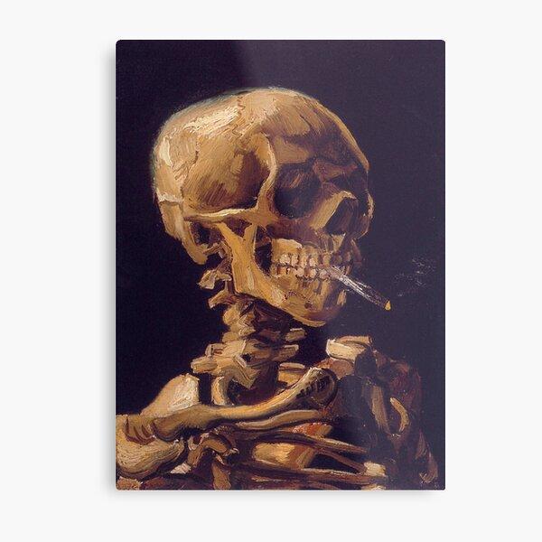 Le «crâne avec une cigarette allumée» de Vincent Van Gogh Impression métallique