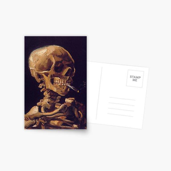 """Vincent Van Goghs """"Schädel mit brennender Zigarette"""" Postkarte"""