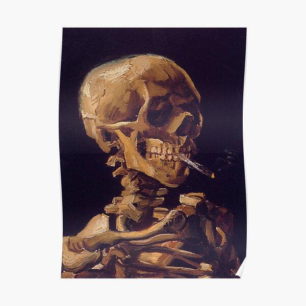 Vincent Van Gogh's 'Skull with a Burning Cigarette'  Poster