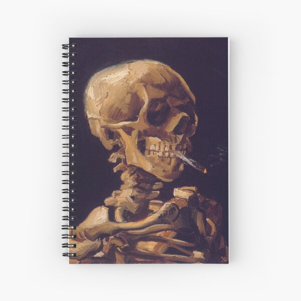 Vincent Van Gogh's 'Skull with a Burning Cigarette'  Spiral Notebook