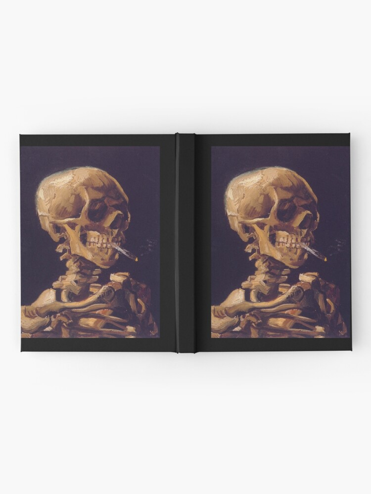 Alternate view of Vincent Van Gogh's 'Skull with a Burning Cigarette'  Hardcover Journal