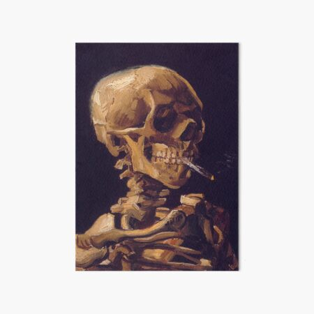 Vincent Van Gogh's 'Skull with a Burning Cigarette'  Art Board Print