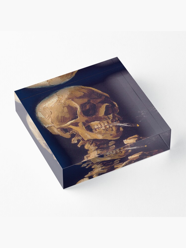 Alternate view of Vincent Van Gogh's 'Skull with a Burning Cigarette'  Acrylic Block